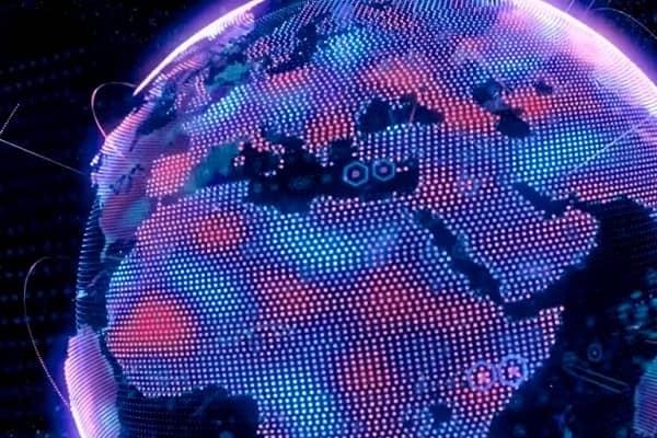 Eine digitale Darstellung der Erde.