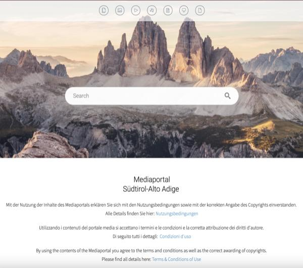 IDM South Tyrol screenshot for external users