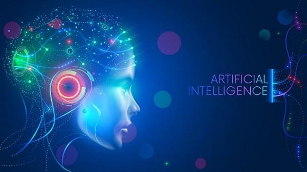 Künstliche Intelligenz symbolisch dargestellt durch einen Roboterkopf.