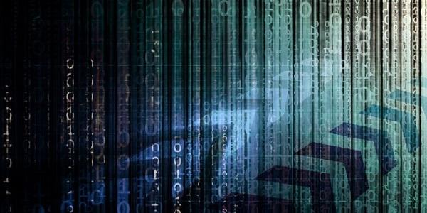 Stränge von digitalen Daten, einem kernuntersuchungsgebiet der Metadaten-Analyse.