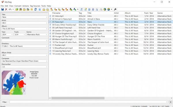 Eine Abbildung der Benutzeroberfläche der Software MP3Tag.