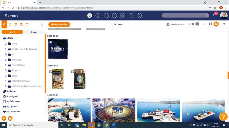 Osprey Canto Screenshot library