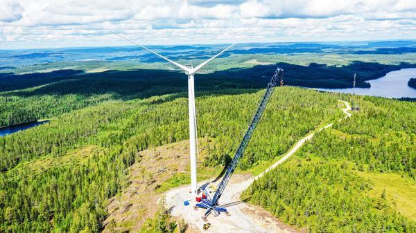 Osprey installing 90 wind turbines in Sweden