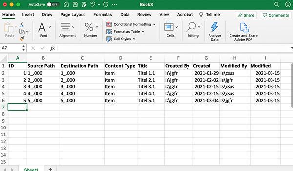 Daten werden digital in eine Tabellenkalkulation eingegeben.