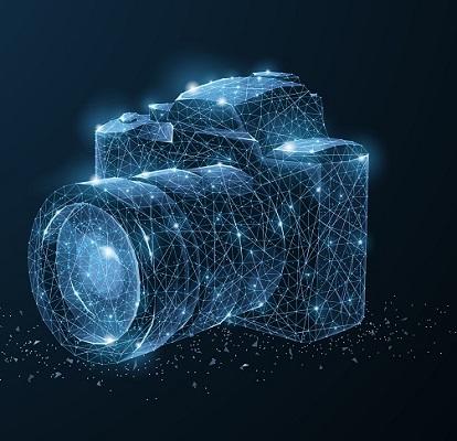 Digitale Darstellung einer Digitalkamera.