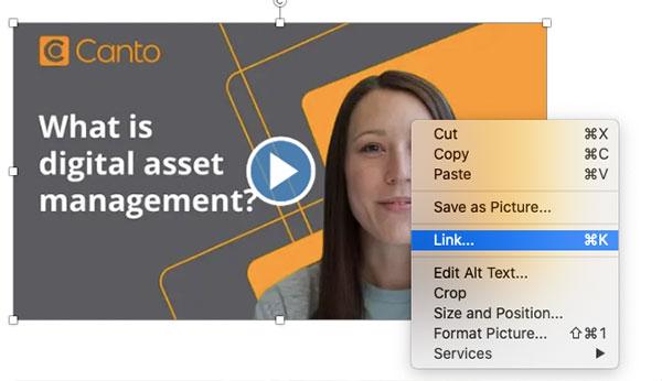 Rechtsklickmenü für Bilder in Outlook für MacOS.