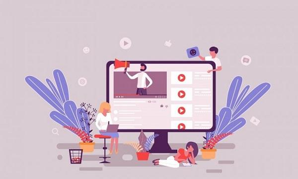 Ein Bildschirm mit YouTube-Videos, auf dem Benutzer zu sehen sind, beispielhaft für eine Youtube-Marketing-Strategie.