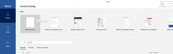 Ein Screenshot der Menüleiste in Microsoft Word.